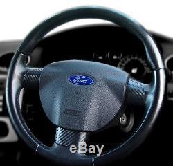 Carbon Fibre Effect Steering Wheel Inserts Trims Cover Tdci Mk2 Rs Zetec St2 225