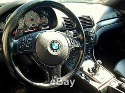 Carbon Interior Fit For 98-05 BMW E46 M3-Style Steering Wheel Cover Relacement