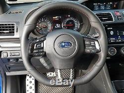 Carbon STI Steering Wheel Cover Trim for Subaru Impreza WRX CST 2015-2019