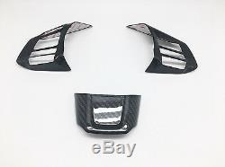 Carbon Steering Wheel Spoke Overlay Covers For 2015-2020 Subaru LEVORG WRX STI
