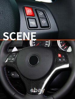 Carbon fiber Steering Wheel Cover For BMW 3 Series E90 E92 93 M3 M Sport 2007-13