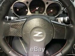 Carbon fiber Steering wheel trim covers for Nissan 350Z Z33