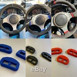 Choose Lancer EVO 7/8/9 VIII IX Steering Wheel Wrap Suede v2 + Basic Clip Set