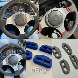 Choose Lancer EVO 7/8/9 VIII IX Steering Wheel Wrap Suede v2 + EVOLUTION Clipset