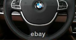 Chrome Silver Steering Wheel Cover Trim For 2010-2015 BMW F10 F11 520i 528i 535i