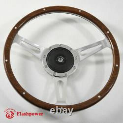 Classic Laminated Wood Steering Wheel Ford Mustang Shelby AC Cobra Vintage