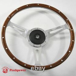 Classic Riveted wood grain steering wheel Restoration Custom Hot rod street rod