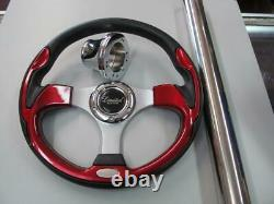 Club Car DS Golf Cart Red Steering Wheel / Adapter/Column Cover #500DSLE
