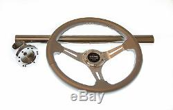 Club Car DS Silver Steering Wheel/Hub Adapter/Chrome Cover Kit 1985 to Current