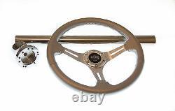 Club Car Precedent Silver Steering Wheel/Hub Adapter/Chrome Cover Kit 2004+