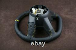Custom steering wheel Flat bottom Square Top HEMI srt8 Alcantara & Nappa leather