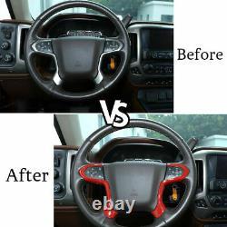 Dashboard & Steering Wheel Decoration Cover Trim For Chevy Silverado& GMC Sierra