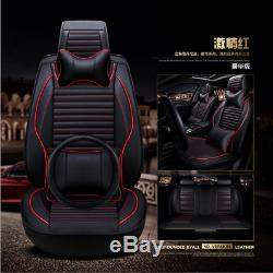 Deluxe soft and comfortable Leather Car Seat Cushion 14pc+steering wheel cover