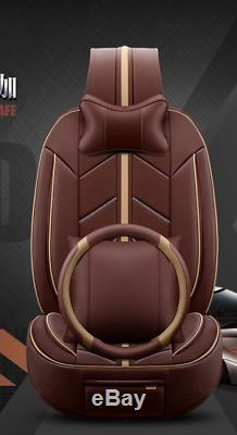 Deluxe soft and comfortable Leather Car Seat Cushion 15pc+steering wheel cover