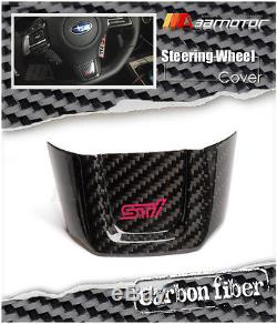 Dry Carbon Fiber STI Steering Wheel Cover for 2015-2017 Subaru Impreza WRX VAB