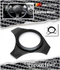 Dry Carbon Fibre Steering Wheel Cover for Mitsubishi Evolution EVO 7 8 9 CT9A