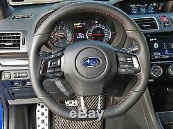 Dry Carbon For Subaru WRX STI 4th / Levorg Interior Steering Wheel Cover 2019