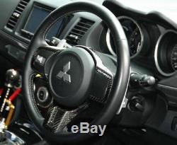 Dry Carbon Kit For 08-12 Mitsubishi EVO 10 EVO X Coltspeed Steering Wheel Cover