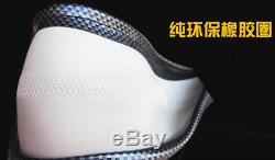 Durable 38cm Black Carbon fiber Leather Car Steering Wheel Cover All Seasons