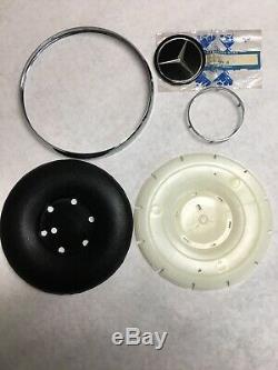 Early Style Black Steering Wheel Horn Pad For Mercedes W110 W111 W112 W113