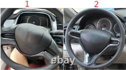 FOR HONDA Civic 8th 2006-2011 carbon fiber inner Steering wheel strip cover trim