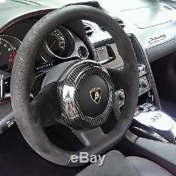 Fit All Lamborghini Gallardo 04-14 Carbon Fiber Steering Wheel Center Cover