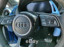 Fit Audi S-Line Carbon Fiber Steering Wheel Cover A3 A4 A5 TT TTS TTRS R8