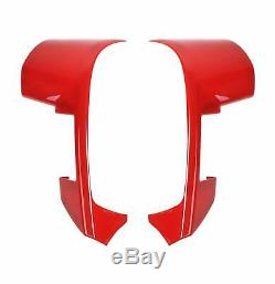 Fit F150 Raptor Steering Wheel Moulding Cover trims Accessories 2009-2014 Red