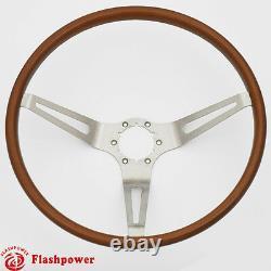 Flashpower GM Classic Wood Steering Wheel Original Restoration Muscle Car 15'