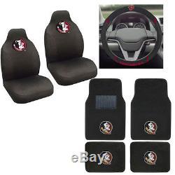 Florida State Seminoles Car Truck Seat Covers Floor Mats & Steering Wheel Cover