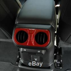 For 2018 Wrangler JL Interior Trim Kit Steering Wheel Air Outlet Cover etc. Red