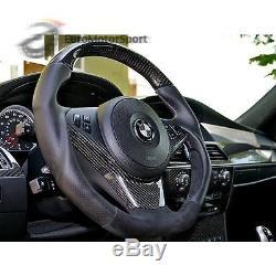 For BMW E60 E61 CARBON STEERING WHEEL COVER TRIM 04-10 523i 525i 528i 530i M5