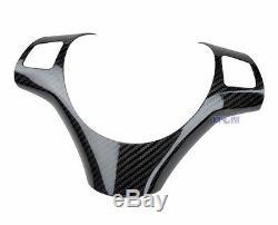 For BMW E90 E91 E92 E93 2005-2008 Carbon Fiber Steering Wheel Trim Cover