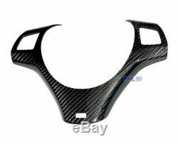 For BMW E90 E91 E92 E93 E82M 05-08 Carbon Steering Wheel Trim Cover with M Hole