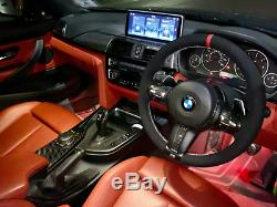 For BMW F30 F33 F87 M2 F80 M3 F82 F12 F13 F85 X5 F86 X6 ALCANTARA STEERING COVER
