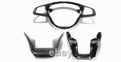 For Benz AMG A45 C63 E63 CLA45 CLS63 S65 Carbon Fiber Steering Wheel Trim Cover