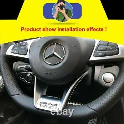 For Benz W205 W218 W117 AMG Edition 1 Performance Steering Wheel Low Cover Trim