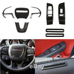 For Challenger 2015-19 Steering wheel Cover Window Switch Panel Trim Decal Bezel