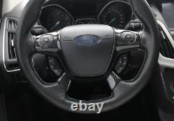 For Ford Focus ST RS 2012-2014 ABS Carbon Fiber Steering Wheel Button Cover Trim