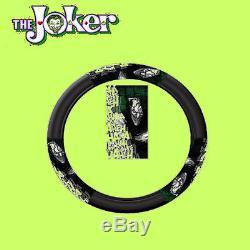 For Ford New DC Comic Joker Car Seat Covers Floor Mat Steering Wheel Cover Set