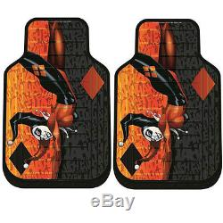 For Ford New Harley Quinn Car Seat Covers Floor Mat Steering Wheel Cover Set