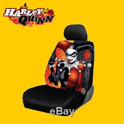 For Ford New Harley Quinn Car Seat Covers Floor Mats Steering Wheel Cover Set