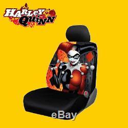 For Honda New Harley Quinn Car Seat Covers Floor Mats Steering Wheel Cover Set
