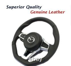 For MAZDA MX-5 ND 2016+ Ken Style Original Steering Wheel Leather Cover