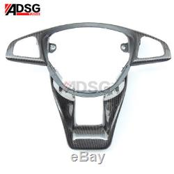 For Mercedes Benz W176 A45 W205 C63 W213 Carbon Fiber Steering Wheel Cover Trim