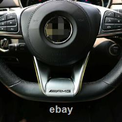 For Mercedes Benz W218 W205 AMG Steering Wheel Low Cover Trim 2015+