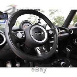 For Mini Cooper R55/R56/R57 Carbon Fiber Steering Wheel Cover Set