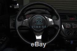 For Mitsubishi Lancer Evo 7 8 9 1x Dry Carbon Steering Wheel Cover Intside Frame