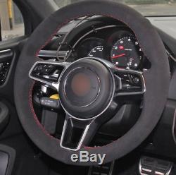For Porsche Macan Cayenne 2015 2016 ALCANTARA steering wheel cover