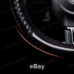 For Suzuki Vitara 2016-2017 ABS Carbon fiber steering wheel cover trim 1pcs